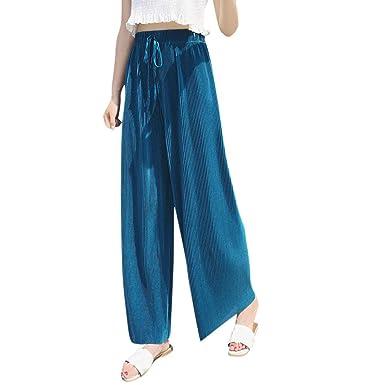 Hanomes Moda Para Mujer Pantalones De Cintura Alta Sólidos ...