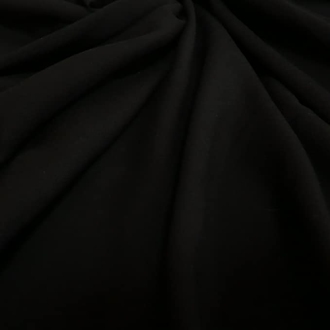 soft drape material for light tailoring suiting Black Viscose Twill Fabric