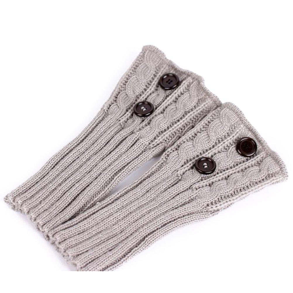 PIXNOR Puños de pata arranque tejer calcetines calentadores arranque ...