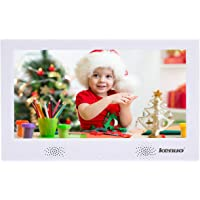 Digital Photo Frame 10 inch Kenuo Digital Picture Frame High HD 1024x600(16:9) Electronic Picture Frame with Video Player Stereo/MP3/Calendar/Auto On/Off Timer (10 Inch, White)