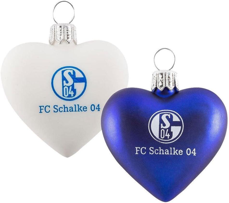 FC Schalke 04 Weihnachtsbaumkugeln Christbaumkugeln Weihnachtskugeln 4er-Set