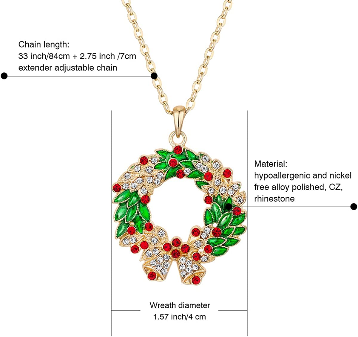 Women Crystal Rhinestone Silver Plated Long Chain Pendant Necklace DK