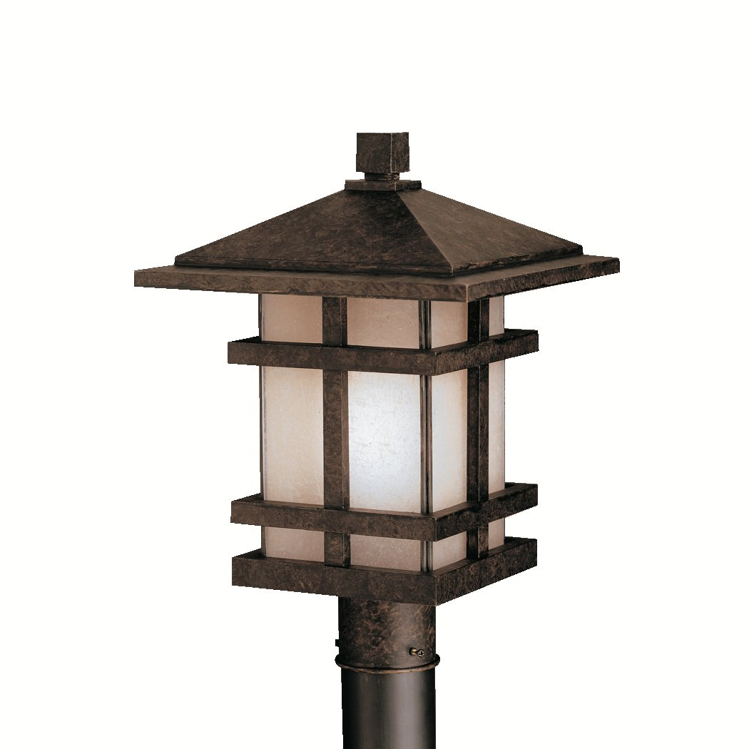 Amazon.com : Kichler 9529AGZ One Light Outdoor Post Mount : Post Lamp  Bronze : Garden U0026 Outdoor