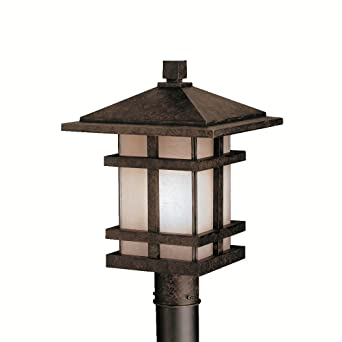 Good Kichler Lighting 9529AGZ Cross Creek 17 Inch Outdoor Post Light, Aged  Bronze With Textured
