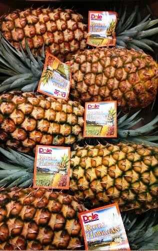 Fresh Tropical Gold Hawaiian Pineapples (2 ea)