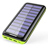Solar Charger KEDRON 22000mAh Power Bank Portable charger with 2 Port Input & 3 Usb Output External Battery Pack for iPhone, iPad and Samsung Galaxy and More