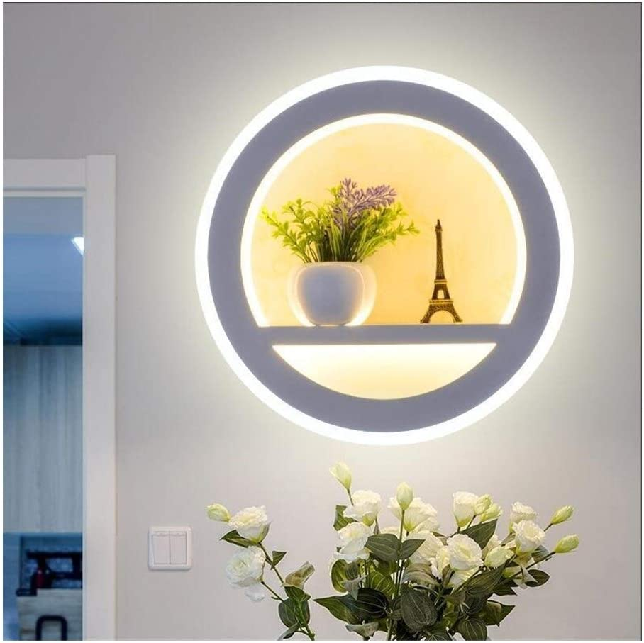 LED Wandleuchte Schlafzimmer Dimmbare LED-Wand-Lampe mit Blumen-Tower & Cartoon Puppe AC85-265V 30W Acrylwandleuchten for Schlafzimmer Wohnzimmer-Dekor-Beleuchtung Warm White