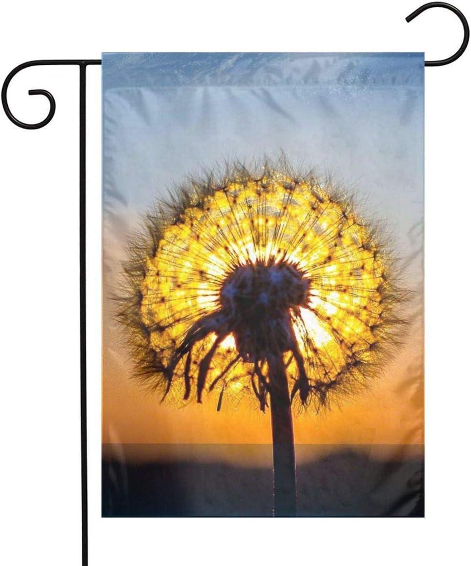 Pooizsdzzz Sun Light Dandelion Festival Garden Flag Front Door Flag Decorative Home Outdoor Flag 1218 Inch