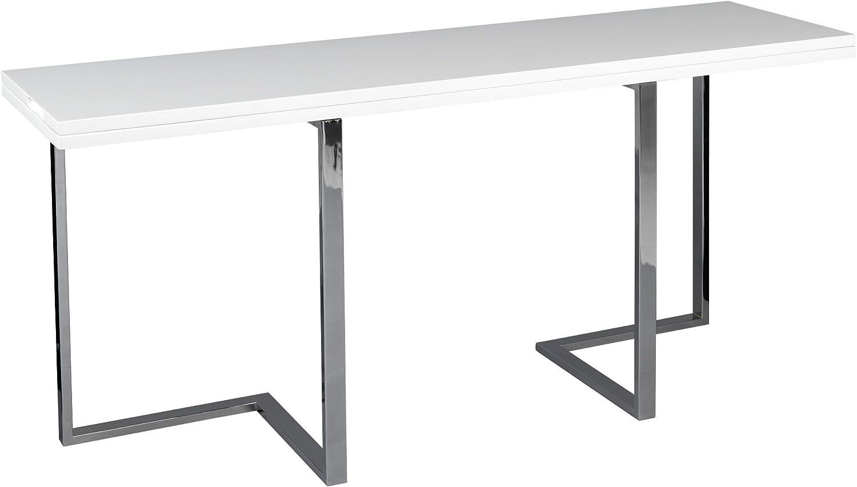 Alinea Elau Console Extensible En Table De Repas Blanc 160 0x76
