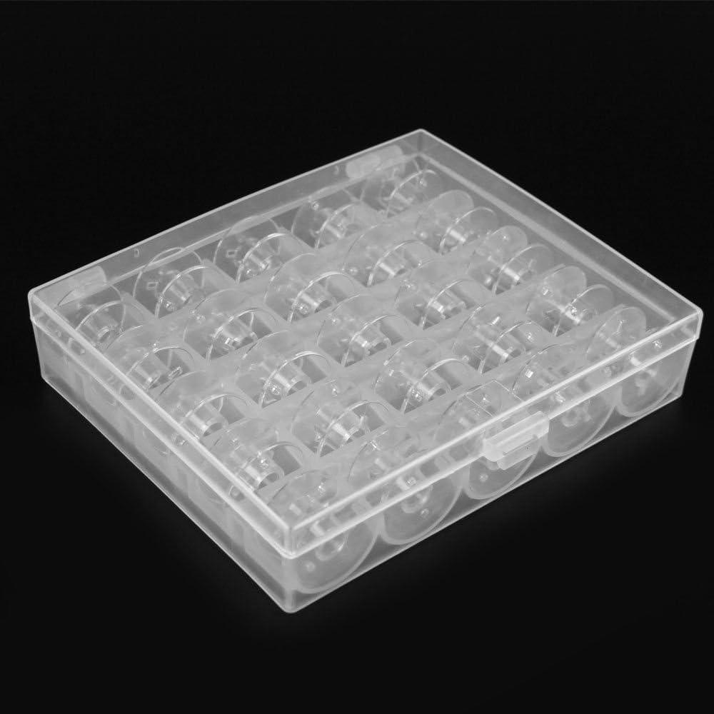 Caja con 25 canillas vacías para máquina de coser para janomes Bobina de bobina para máquina de coser bobina Set Caso Carretes: Amazon.es: Juguetes y juegos