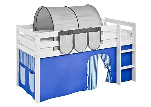 Etagenbett Vorhang Blau : Lilokids vorhang blau für hochbett spielbett und etagenbett