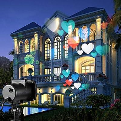 Christmas LED Multicolor Projection Light 12 Switchable Patterns ,Waterproof Landscape Garden