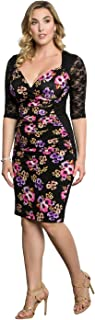 product image for Kiyonna Women's Plus Size Stop and Stare Ruched Dress