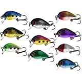 Emma 10pcs Micro 3D Plugs Jerk Crank Plug Bait Spinning Lures Fishing Lures