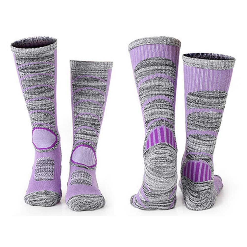 Taglia Libera Purple /Spesso Resistenza all Usura Calzini Invernali per Outdoor//Trekking//Sci//Equitazione Pattinaggio Caldo Lionina Donne//Uomini Calze Lunghe/ Termica Confortevole
