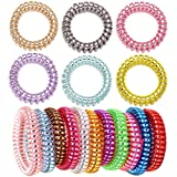 Fashion & Lifestyle Hair Ties Ponytail Holders - Large Boutique Girls Stretchy Elastic Hair Ropes Bands Styling Accessories for Women and Ladies Pack of 10, Assorted Random Color
