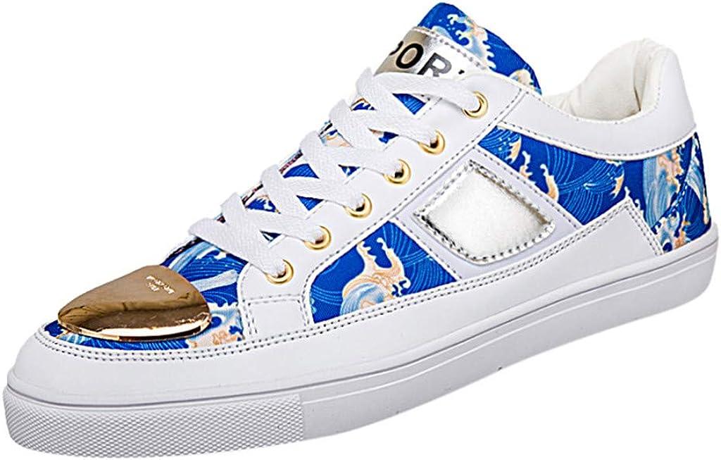 MISSQQ≦ Zapatillas de Skateboard para Hombre, Deportivas, Running, Sneakers, Gimnasia al Aire Libre Blanco 40: Amazon.es: Ropa y accesorios