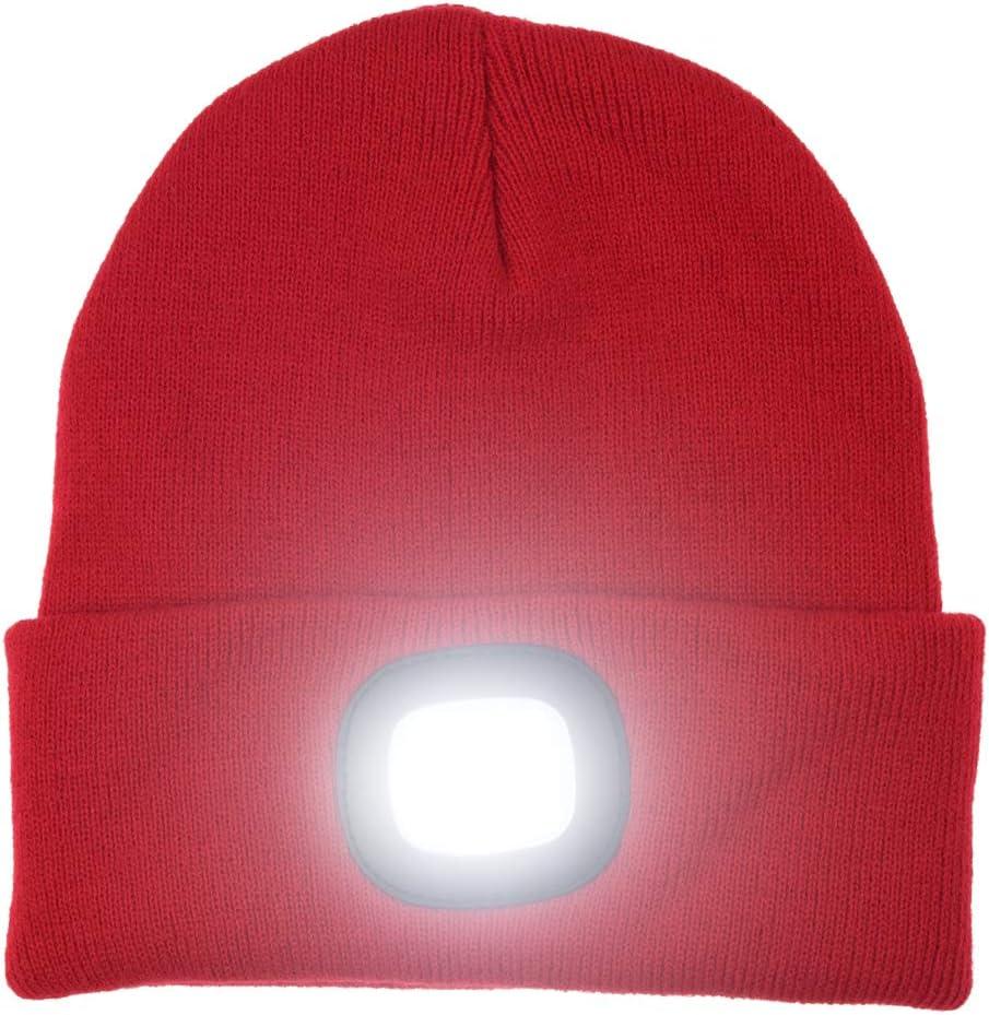 DEL Bonnet Avec Rechargeable USB Battery Unisexe High Powered Head Lampe lumière