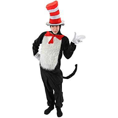 Amazon.com: Cat in the Hat Deluxe Costume - Large/XL - Chest Size ...