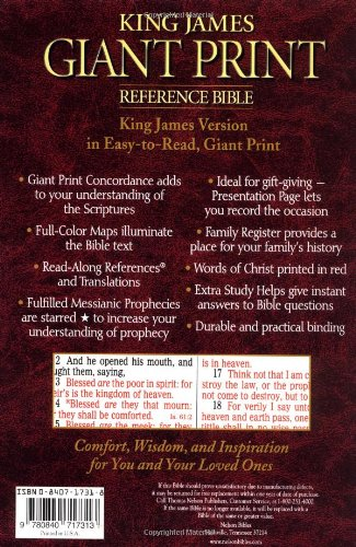Holy bible king james version giant print reference edition holy bible king james version giant print reference editionburgundy leatherflex thomas nelson 9780785202684 amazon books negle Image collections