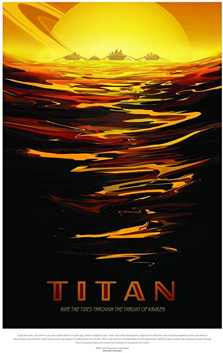 Titan NASA Space Travel Cool Wall Decor Art Print Poster 24x36