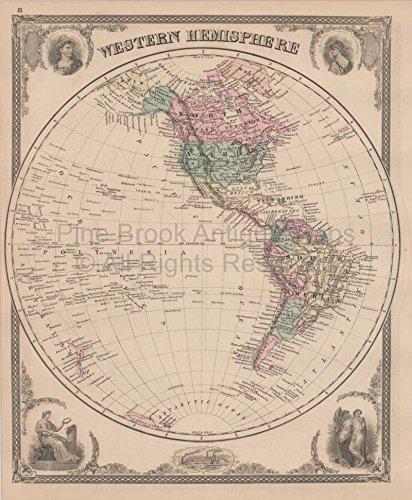 - Geological Climate Indiana Vintage Map Baskin 1876 Original Indiana Decor History Gift