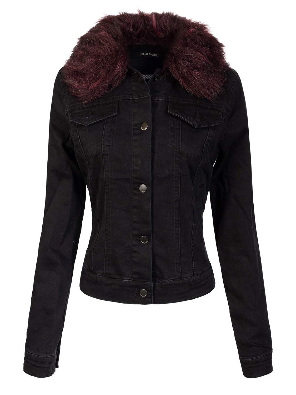 Idjw009 Black Instar Mode Women's Classic Casual Vintage Denim Jean Jacket Vest