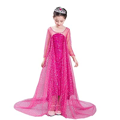 Dressy Daisy Girls\' Ice Princess Costumes Fancy Party Dress Sequined: Clothing [5Bkhe0204577]
