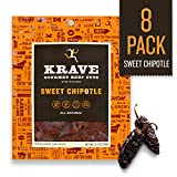 KRAVE Jerky Gourmet Beef Cuts, Sweet Chipotle, 2.7 Ounce (Pack of 8)