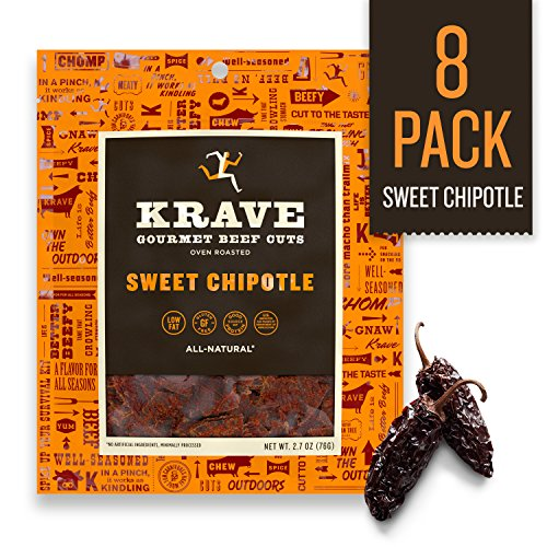 KRAVE Jerky Gourmet Beef Cuts, Sweet Chipotle, 2.7 Ounce (Pack of ()