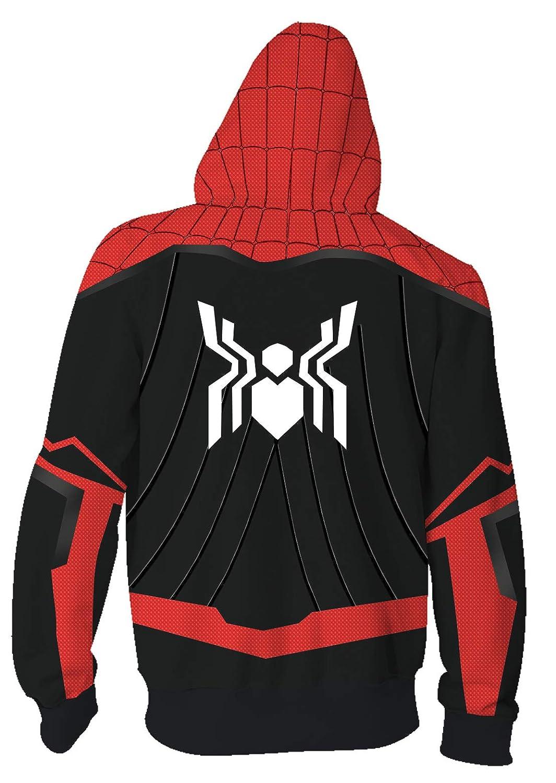 Riekinc Superhero Halloween Cosplay Costume Mens Hoodie Jacket