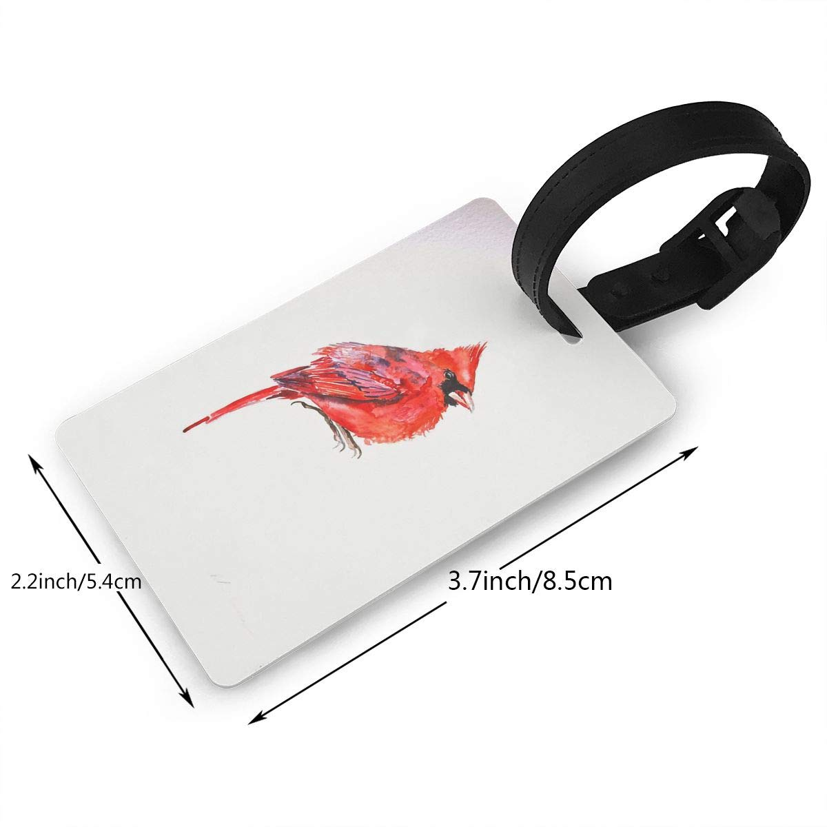 Cardinals Bird Cruise Luggage Tag For Suitcase Bag Accessories 2 Pack Luggage Tags