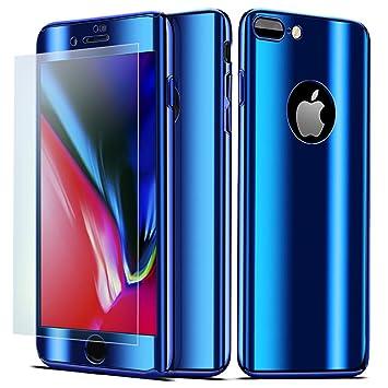 NALIA Funda Integral Compatible con iPhone 8 Plus / 7 Plus, Carcasa Completa con Cristal Templado, Ultra-Fina Cubierta Móvil Protectora Cover Delgado ...