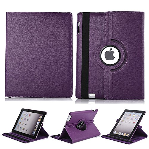 iPad mini 1/2/3 Case - 360 Degree Rotating Synthetic Leather Multi-angle Stand Folio Case Cover For Apple iPad mini 1 / iPad mini 2 / iPad mini 3 - Sunglasses Transparent Translucent Or Is