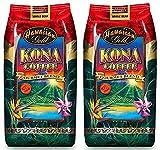 Hawaiian Gold Kona Medium Roast Gourmet Blend Whole Bean Coffee - 2 Lbs Bag...