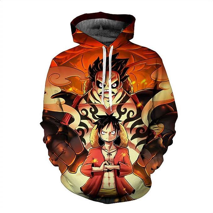 Unisex Sudadera con Capucha 3D Colorido Gráfico Impresion Sudaderas One Piece Hoodie con Bolsillos Drawstring: Amazon.es: Ropa y accesorios