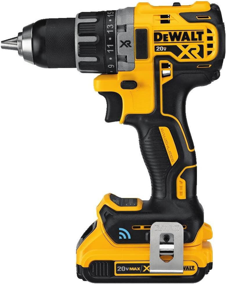 DCD792D2 DEWALT 20V MAX XR Brushless Drill//Driver Kit with Tool Connect Bluetooth