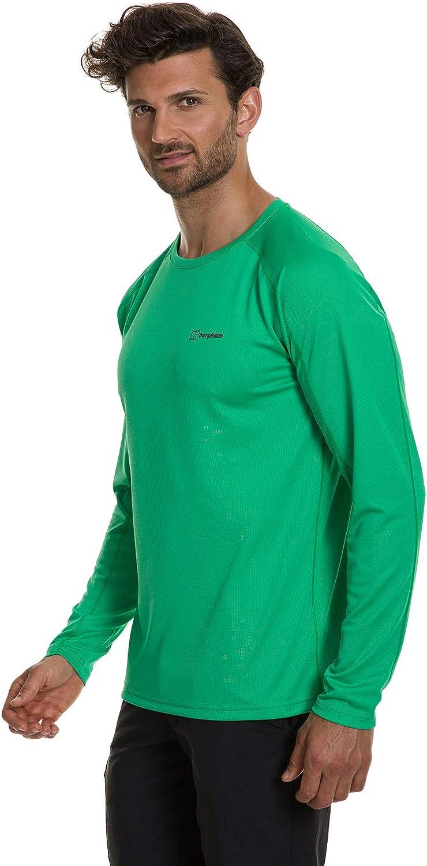 Berghaus UK Mens 2.0 Long Sleeve Crew Tech Tee Shirt
