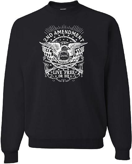 2nd Amendment Live Free or Die Sweatshirt 2A Gun Rights Freedom USA Sweater