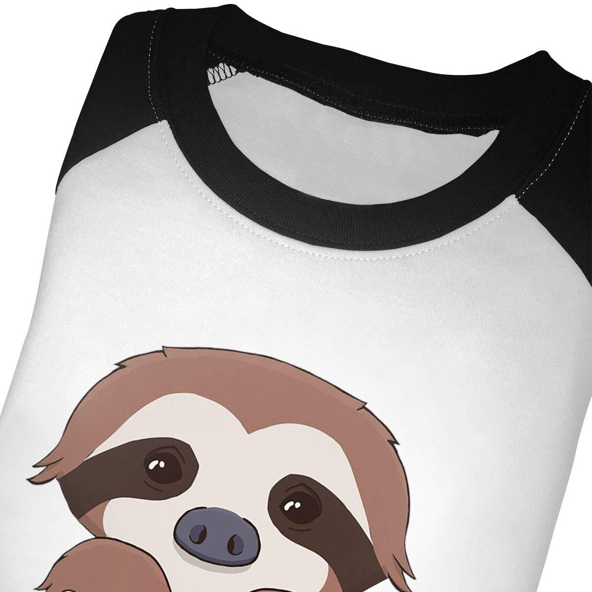 yimo Sloth Unisex Toddler Baseball Jersey Contrast 3//4 Sleeves Tee