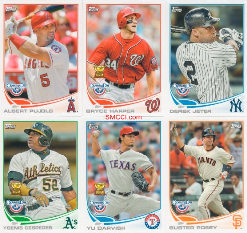 Best buy 2013 Topps Opening Day Baseball Series Complete Mint Hand Collated 220 Card Set with Derek