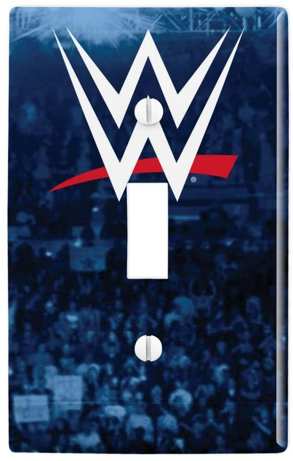 GRAPHICS & MORE WWE Crowd Logo Plastic Wall Decor Toggle Light Switch Plate Cover