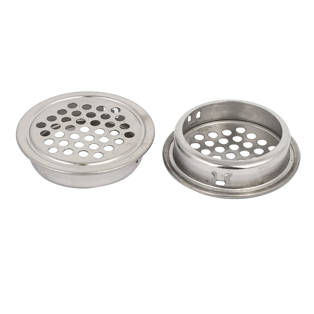 uxcell 35mm Bottom Dia Stainless Steel Round Shaped Mesh Hole Air Vent Louver 35pcs by uxcell (Image #2)