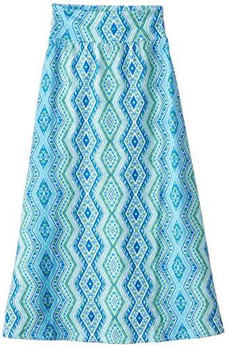 Amy Byer Big Girls' Knit Maxi Skirt, Blue Diamond, Medium