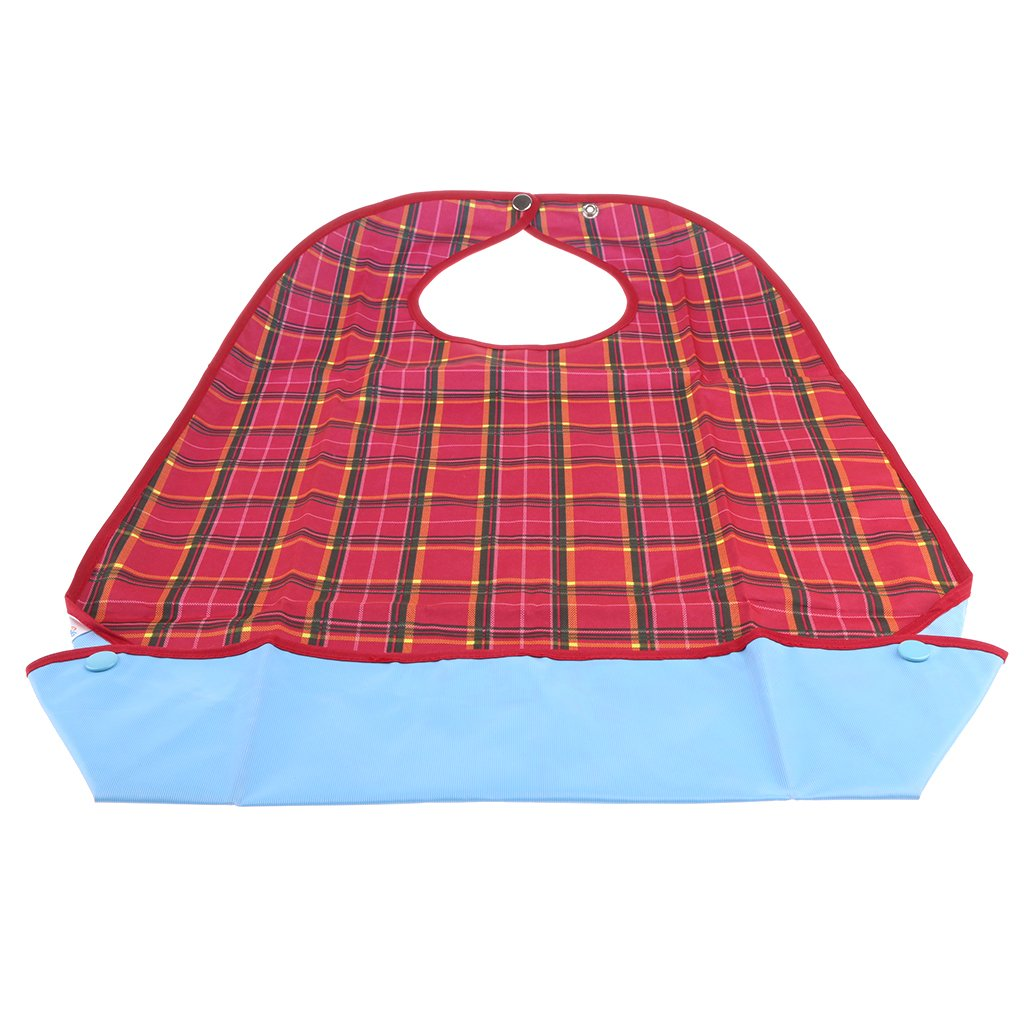 MagiDeal PVC Waterproof Adult Mealtime Bibs Disability Clothes Clothing Protector Washable Wipe Clean - one Size, 3