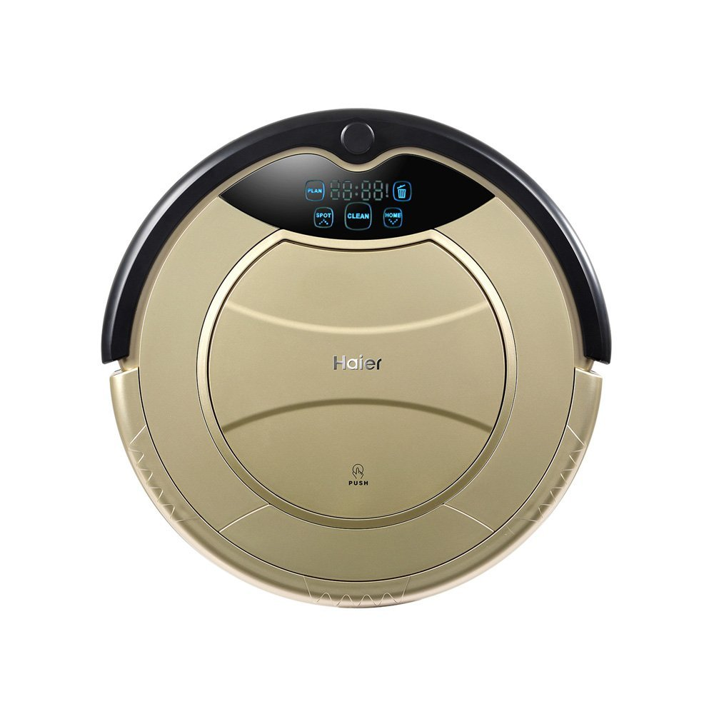 amazoncom haier self charging wet mop floor cleaning robot vacuum cleaner with remote control golden - Robot Mop