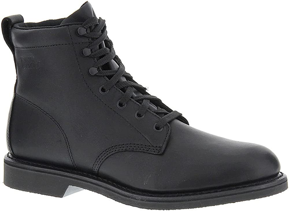 Steampunk Boots and Shoes for Men Work America Mens 6 Farm Leather Steel Toe Lace Up Safety Shoes $136.95 AT vintagedancer.com