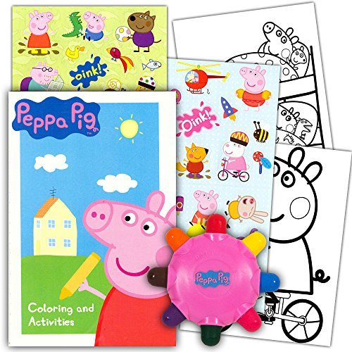 peppa pig on the go coloring pouch activity set with