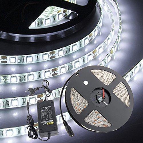 CroLED RGB LED Leiste Strip Lichtleiste mit Fernbedienung Lichterkette Lichterband Licht Streifen 5m led Band 5050SMD 300 LEDs 5050SMD inkl. Netzteil