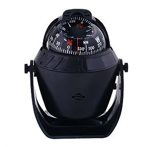 WINOMO Car Compass Ball Dashboard Electronic Digital Navigation Compass for Boat Caravan Truck SUV